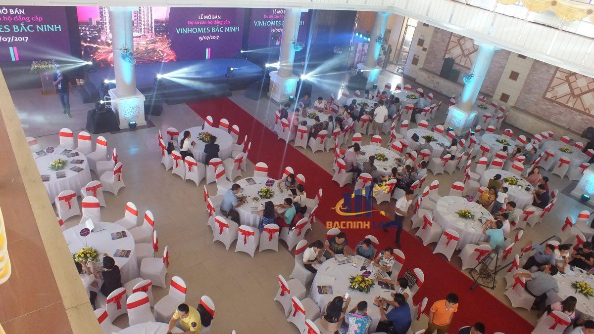 Hội trường tổ chức lễ mở bán Vinhomes Bắc Ninh