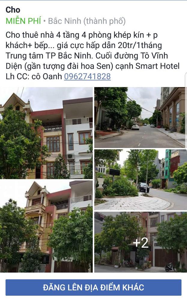 Thuê nhà riêng thành phố Bắc Ninh