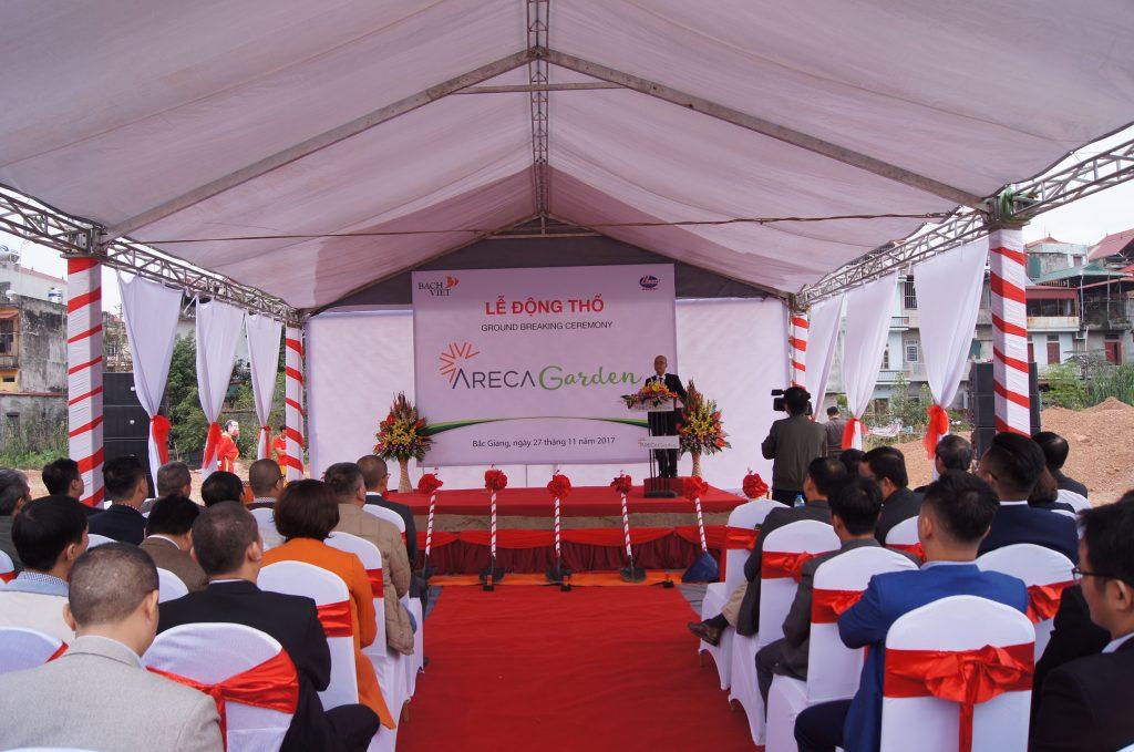 Lễ động thổ dự án chung cư Bách Việt Areca Garden