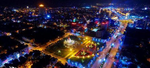Thành phố Bắc Ninh nhìn từ trên cao (Ảnh: Lưu Hải))