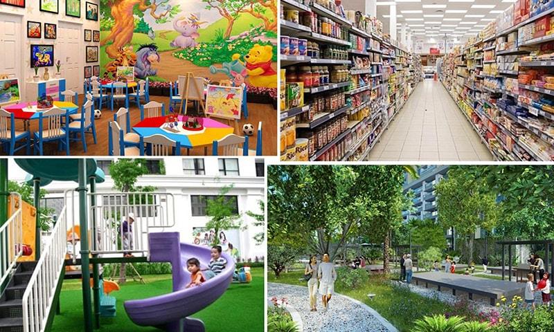 Tiện ích của nhà ở xã hội, shophouse Cát Tường Yên Phong Smart city