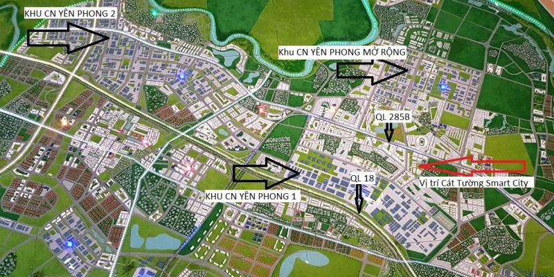 Vị trí dự án Cát Tường Smart City Yên Phong