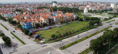 Nút giao giữa đường Huyền Quang và đường Lý Thái Tổ Thành phố Bắc Ninh