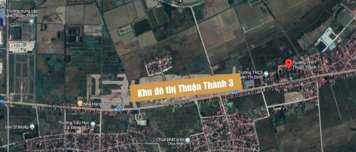 Vị trí dự án KĐT Thuận Thành 3
