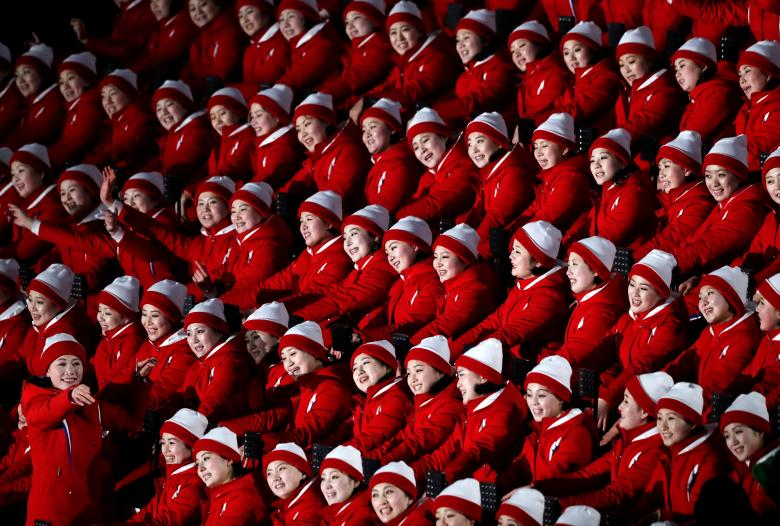 Cheerleaders from North Korea