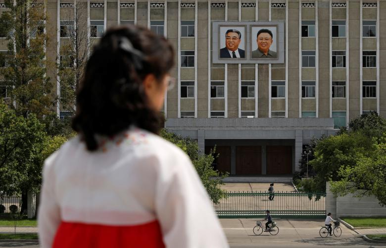Portraits of late North Korean leaders