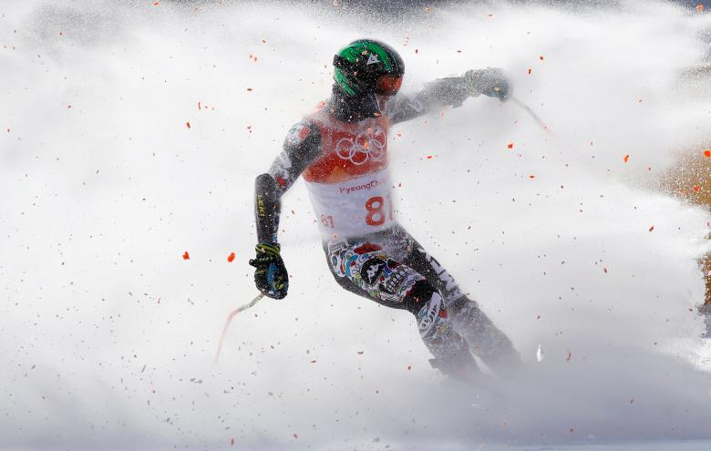 Rodolfo Roberto Dickson Sommers of Mexico competes in the men's giant slalom at the Pyeongchang 2018 Winter Olympics in South Korea, February 18