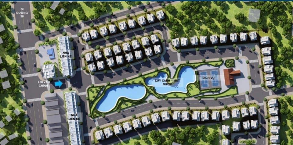Phối cảnh tổng thể dự án Khu nhà ở Dabaco Lạc Vệ - Tiên Du - Bắc Ninh