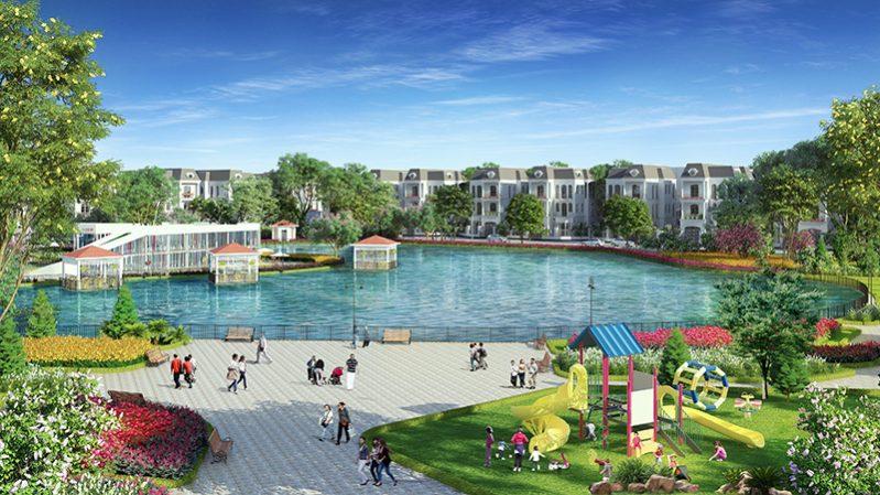 Tiện ích công viên cây xanh & hồ điều hòa của khu đô thị Phố Thắng Central Park