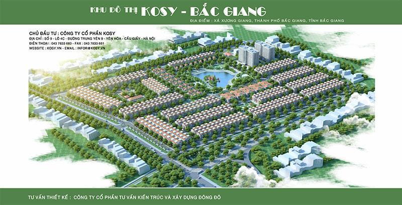 Phối cảnh tổng thể dự án Khu đô thị Kosy Bắc Giang