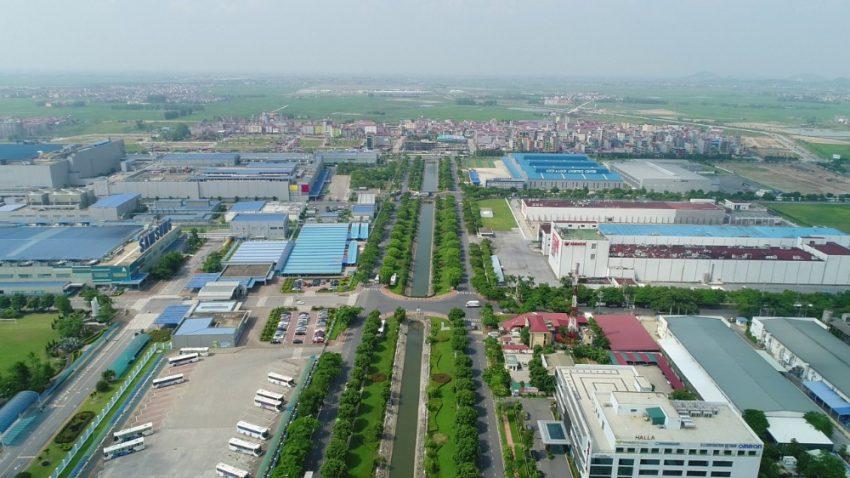 Khu đô thị mới Yên Phong city có vị trí thuận tiện khi nằm cạnh khu công nghiệp Yên Phong