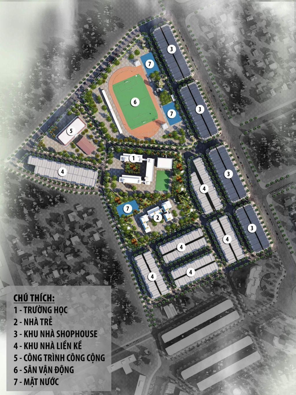 Mặt bằng tổng thể dự án & vị trí các phân khu tại Vườn Sen