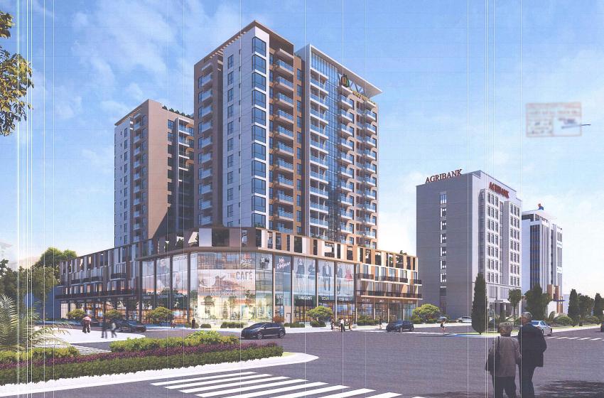 Phối cảnh tổng thể dự án tổ hợp chung cư, shophouse Dabaco Lý Thái Tổ