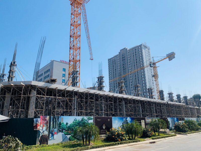 Dự án Lotus Central Bắc Ninh đang trong giai đoạn xây dựng gấp rút...
