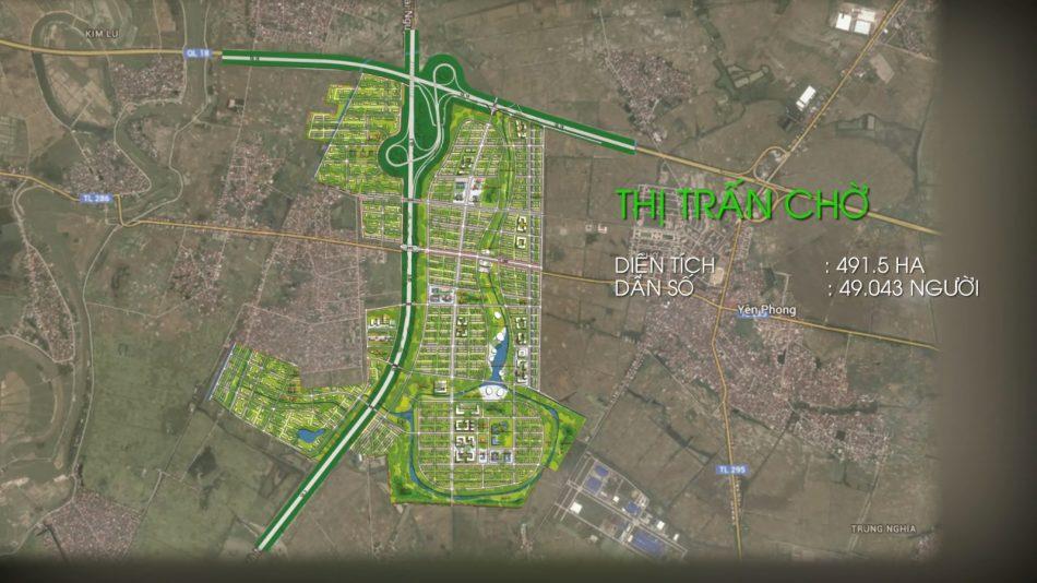 Vị trí dự án khu đô thị Kim Đô