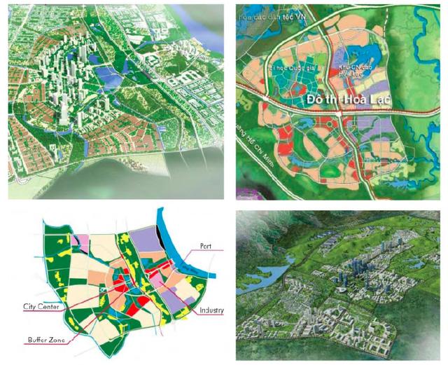 Bản đồ quy hoạc các phân khu