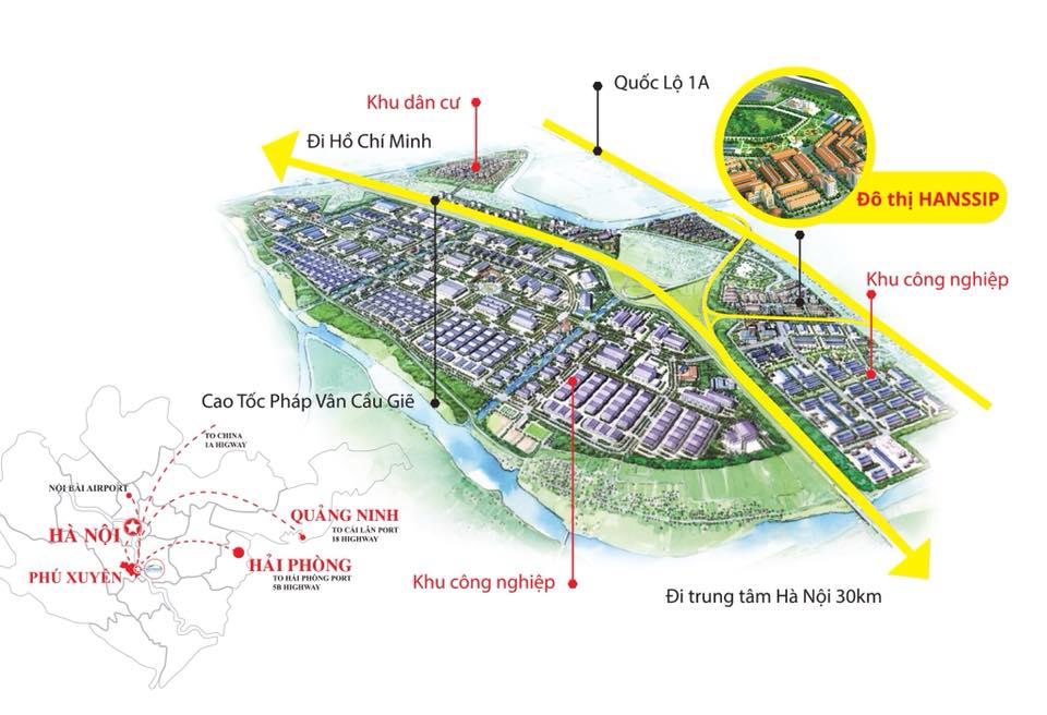 Vị trí dự ánán INOHA CITY Phú Xuyên, Hà Nội