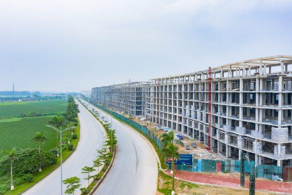 Hình ảnh thực tế dự án Cát Tường Smart City Yên Phong